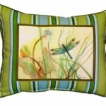Dragonfly in Weeds Pillow