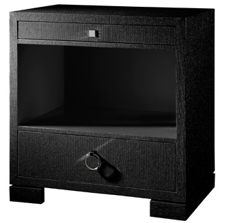 Frances Two Drawer Side Table in Black