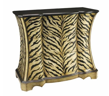 zebra pattern accent table