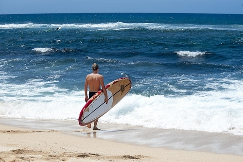 Surfer at On Beach