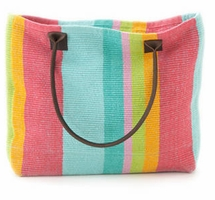 Rainbow Colored Beach Bag