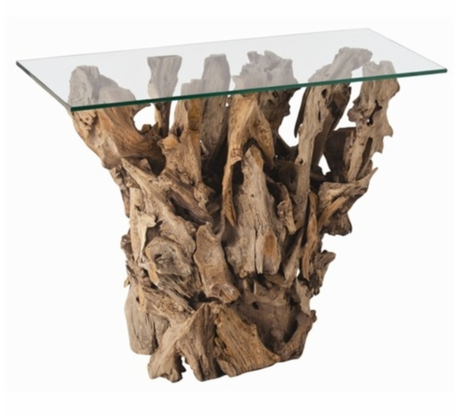 Kingston Driftwood and Glass Table