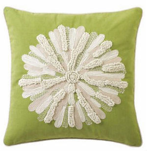 Asters Pillow in Kiwi