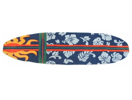 Surfboard Navy Rug by Cottage & Bungalow