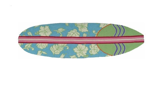 surfboard rug by Cottage & Bungalow