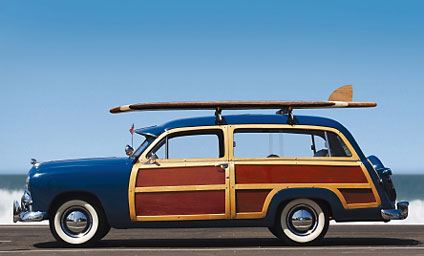 woody with surfboard
