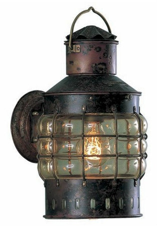 Cottage & Bungalow Copper Wall Anchor Lamp