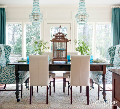 Turquoise Chandeliers