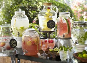garden party drink table