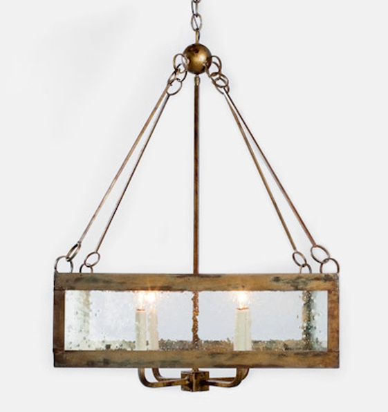 Driftwood and Glass Chandelier