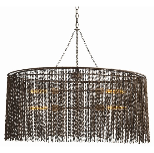 contemporary black and gold iron chandelier