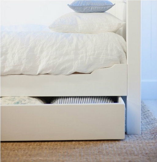 Twin Bed Trundle in White