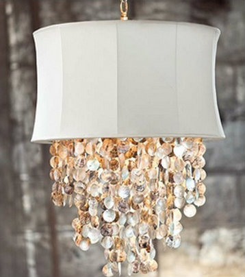 abalone shell chandelier