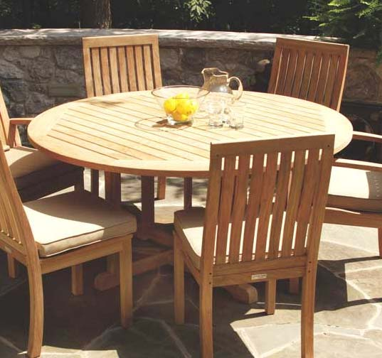 Oxford Teak Outdoor Round Dining Table