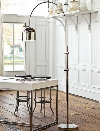 cottage and bungalow-arc floor lamp