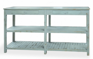 distressed living room console