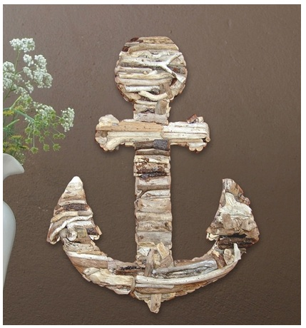 Driftwood Anchor by Cottage and Bungalow