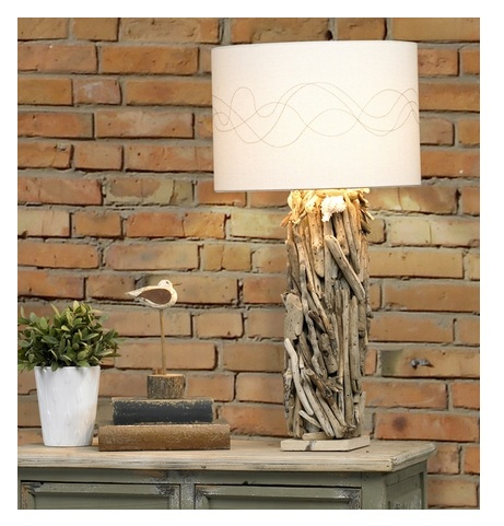 Hand-Crafted Driftwood Table Lamp from Cottage and Bungalow