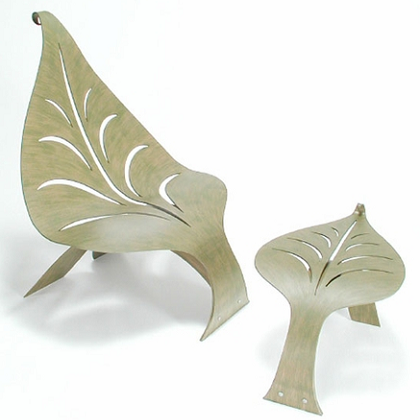 Leaf garden table set
