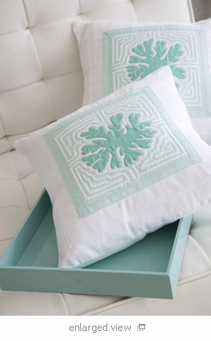 Tripical Coral Accent Pillow