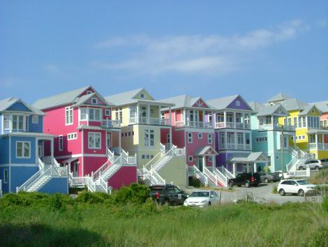 Bright and Colorful Beach Houses