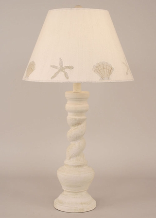 Sand Dollar and Shell Twist Table Lamp