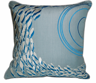 Neutral Colored Fish Pillow