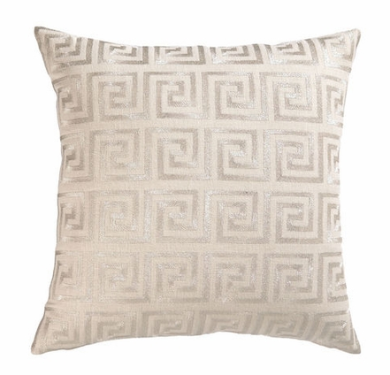 cottage and bungalow greek silver pillow