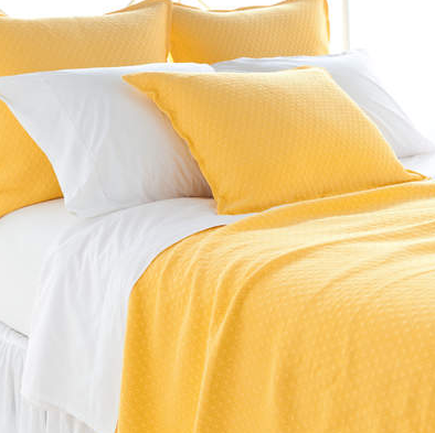 Diamond Coverlet in Canary