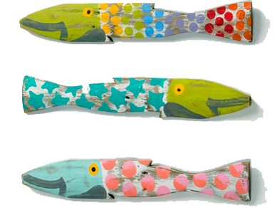 Colored picket fence fish