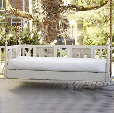 White Porch Bed Swing