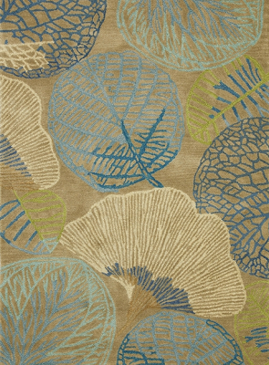 Monterrey Rug Series Leaf Pattern