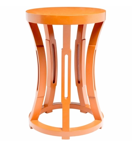 Hourglass Side Table in Orange