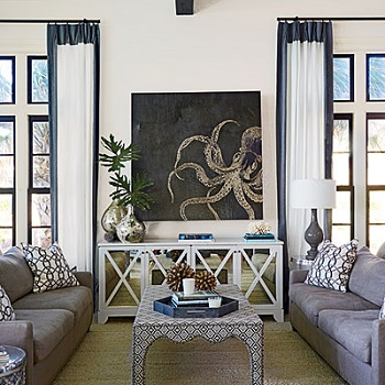 Bold Ideas for a Simple Coastal Living Room