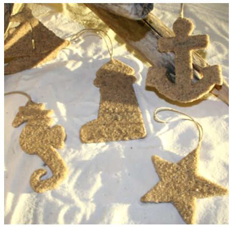 Sand Ornaments via Completely-coastal.com