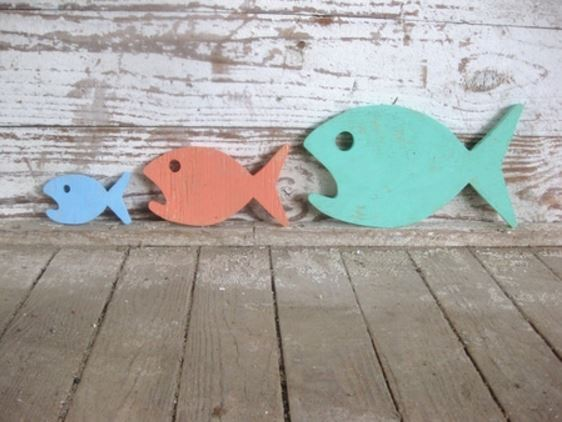 Food Chain Sign - Adorable beach cottage decor for kids