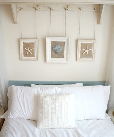 Framed Starfish from Completely-Coastal.com - Perfect accent for your beach themed bedroom