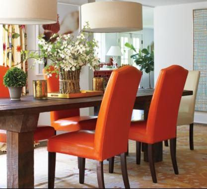 Orange Chairs from nehomemag