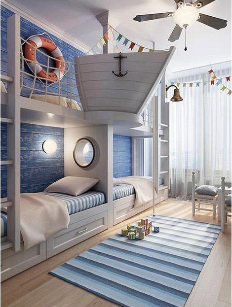 Ship bedroom - Fun beach themed bedroom