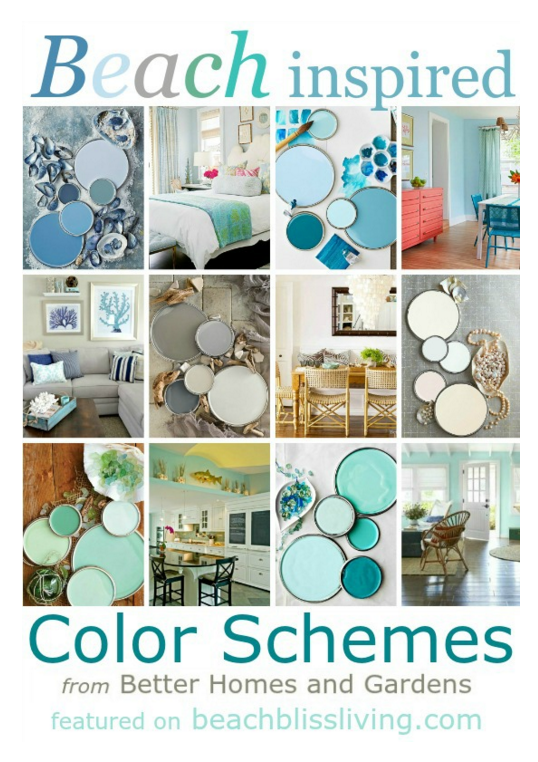 Beach Color Schemes via BeachBlissLiving