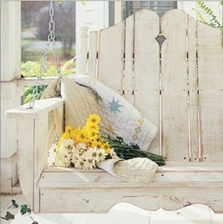 Cliffside Porch Swing Bleached Wood