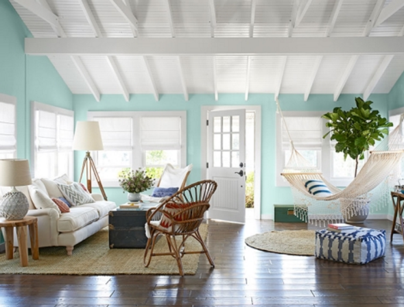Seafoam Living Room via Completely Coastal