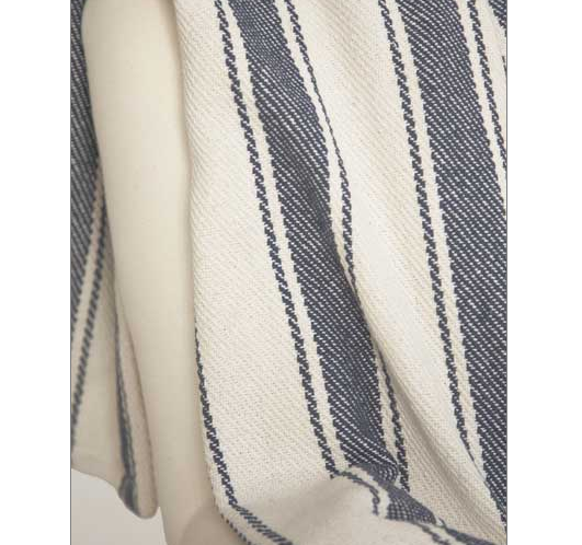 Beach Themed Bedding Ideas - awning stripe throw