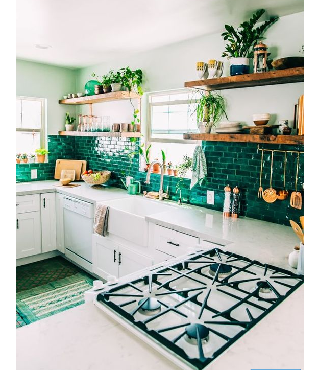 Add a Pop of Green - Kitchen
