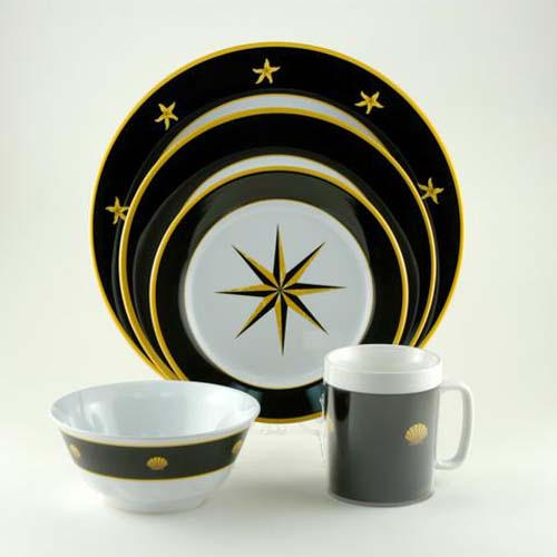 coastal themed dinnerware