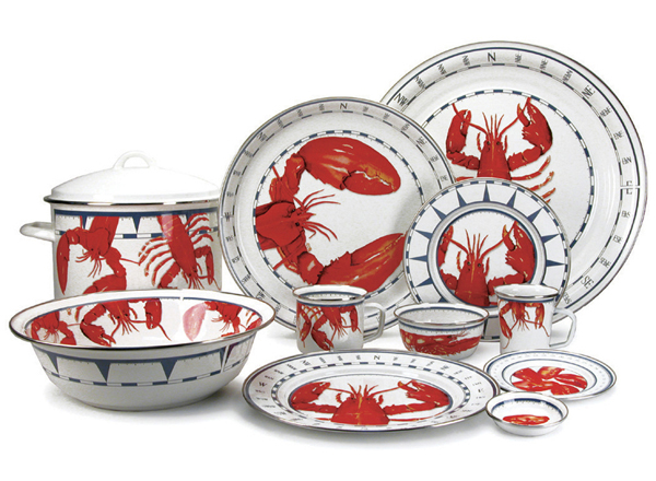 coastal themed dinnerware - lobster plates
