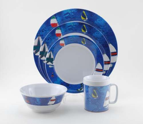 coastal themed dinnerware - spinnaker plates