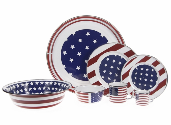 coastal themed tableware - stars and stripes plates