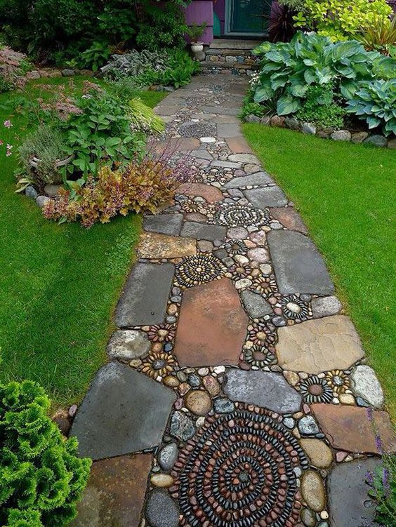 beach house garden - garden path