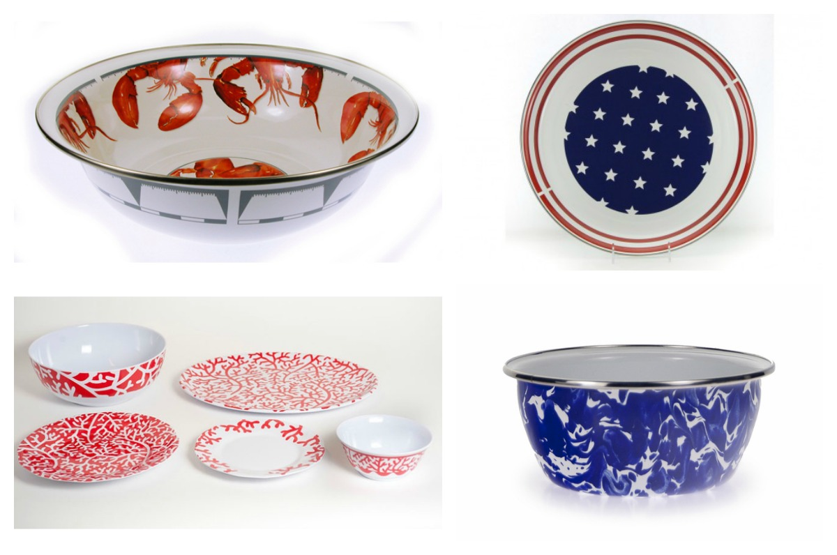 fourth of july serving plates Collage